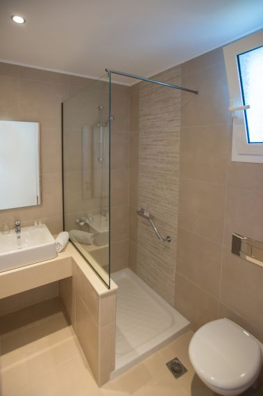 Superior Double Room Pool View, shower